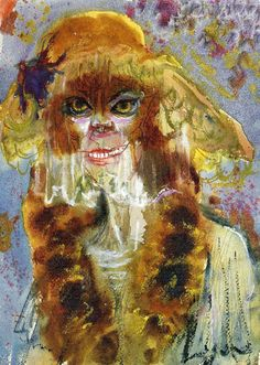 Otto Dix (German Expressionist painter, Lady with Mink and Veil, 1920 It is nearly Halloween. Harlem Renaissance, Wassily Kandinsky, Art Dégénéré, George Grosz, Degenerate Art, New Objectivity, Art Database, Watercolor And Ink, Paintings