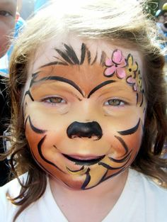 Monkey face painting by Larissa at www.njfacepainter.com