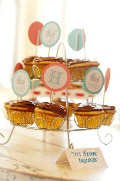 Cupcake toppers by HH Design House