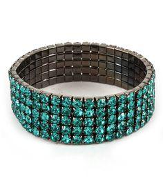 cool Felicity Rhinestone Bracelet(Aqua Blue)