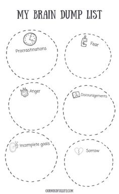 6 Brain Dump Triggers + Free Printable Brain Dump Template for 2020 – Tara Harris – art therapy activities Brain Dump Bullet Journal, How To Bullet Journal, Bullet Journal Anxiety, Bullet Journal Project Planning, Gestion Administration, Relation D Aide, Detox Challenge, Mental Training, Detox Tips