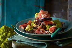 Romanesco-Linsen-Salat mit Parmaschinken