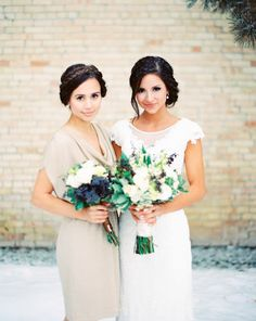 portraits with each bridesmaid