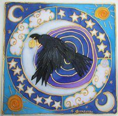 Raven mandala, spirituele cadeaubon, dierlijke gids, raven kunst, sjamanistische kunst, heidense kunst, spirituele kunst, kunst van meditatie, pagan, Wicca door HeavenOnEarthSilks op Etsy https://www.etsy.com/nl/listing/203192482/raven-mandala-spirituele-cadeaubon