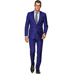 Start of the week with this sharp blue Lazio suit. It features notched lapels, flap pockets and a lightly padded shoulder. Cut slim from pure S110's wool by Vitale Barberis Cnonico, this 2-button fit comes accompanied by flat front trousers. http://bit.ly/1urLP6F
