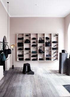 Yvonne Koné's super-spare accessories boutique in Copenhagen (spotted on Remodelista) stopped us in our tracks.