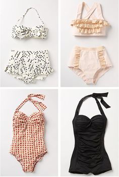 I absolutely LOVE vintage swimsuits, so much more tasteful and classic!