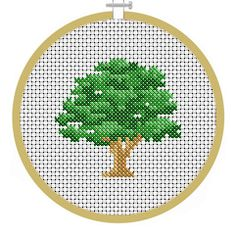 Oak Tree - PDF Cross Stitch Patterns - Instant Download