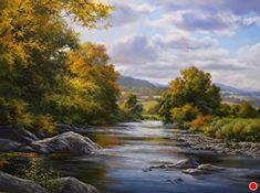 A Fine Day in Autumn by Andrew Orr Oil ~ 12 x 16