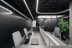 YODEZEEN architects designed the new offices for a confidential client located in Kiev, Ukraine. This office is located in a new business center building Corporate Office Design, Workplace Design, Office Interior Design, Office Interiors, Open Office, Smooth Lines, Space Architecture, Architect Design, Minimalist