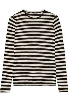 Proenza Schouler Striped slub cotton-jersey top NET-A-PORTER.COM