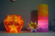 This year my boys chose to create our Winter Solstice lanterns in colors reminiscent of the sunset. You can find the directions for the cylinder lantern and the dodecahedron star lantern here at MCS, and I used this video to figure out the technique needed to fold the  8-pointed star lantern. I adore the colors that the …