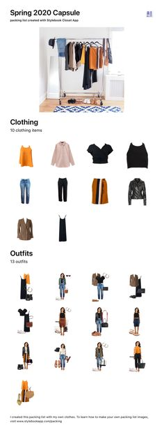These are my picks for my casual spring 10x10 challenge - 10 outfits for 10 days! You can make capsule infographics with Stylebook with the click of a button. This is a good way to share your capsule or to just save it for the future. Minimal Wardrobe, Wardrobe Basics, Capsule Wardrobe, Closet App, Minimalist Closet, Sustainable Textiles, Slow Fashion, Industrial Style, Fashion Brands