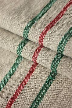 Vintage Hungarian linen Christmas sack feedbag for stockings and Christmas decorations etc ~