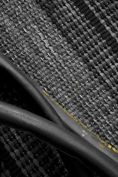close up of CYCLO Rug Texture, Black Rug, Indoor Rugs, Hand Weaving, Recycling, Up, Household, Floor, Bike