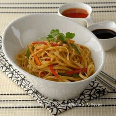 Recipe - Hakka Noodles - Heat the oil in a Chinese wok.  or if not available.