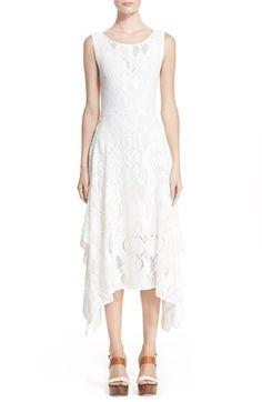 Fuzzi Handkerchief Hem Lace Dress available at #Nordstrom