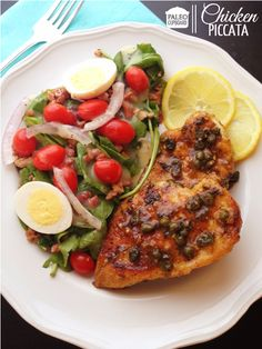 Paleo Chicken Piccata (delicious and easy to make) - www.paleocupboard.com