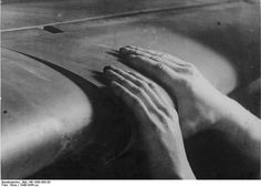 [Photo] German factory worker putting together the wing of a Bf 109 fighter, Me 109, Factory Worker, The Spitfires, History Online, Air Show, Luftwaffe, Surrey, Wwii, Restoration