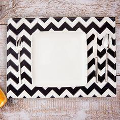 Bonvagon - Ev Tekstili - Baharın Renkleri 2' li Amerikan Servis Siyah-Beyaz