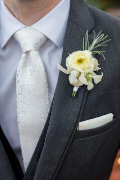 Photo by http://www.amaranthweddingphotography.com/ Mexico Wedding, San Miguel de Allende, Casa Hyder, groom, boutonniere, white tie, three piece suit
