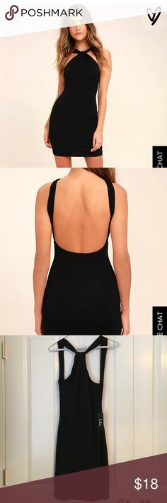 Lulu's Black Bodycon Dress Comfortable fit, low back. Never worn! Tags still on! Lulu's Dresses Mini