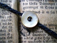 Bracelet with vintage mother of pearl button by DreamSand on Etsy