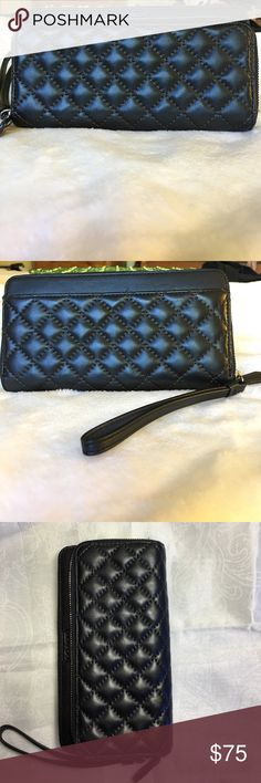 Coach Full Size Black Quilted Leather Wallet Coach black quilted leather wallet, full size, rarely used, excellent condition, almost like new Coach Bags Wallets
