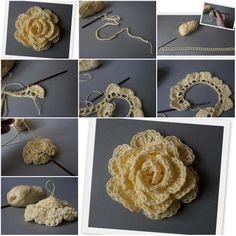 How to Make Hook Rose step by step DIY tutorial instructions, How to, how to make, step by step, picture tutorials, diy instructions, craft, do it yourself