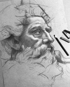 """8,021 Me gusta, 24 comentarios - Efraín Malo (@maloart) en Instagram: """"✍️en preoceso #charcoal #sketching"""""""