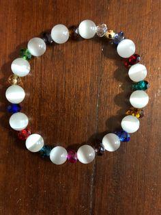 Handmade Beaded Jewelry, Beaded Jewelry Patterns, Wire Jewelry, Jewelery, Gemstone Bracelets, Bracelets For Men, Jewelry Bracelets, Stretch Bracelets, Bracelet Fil