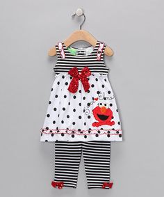 Take a look at this Medieval Blue Elmo Stripe Dress & Leggings - Infant  by Blow-Out on #zulily today!  # fall