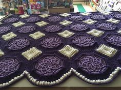 Ravelry: Project Gallery for Bordeaux Matelassé Afghan pattern by Priscilla Hewitt