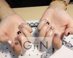 #nail #nails #nailart #nailpolish #naildesign #manicure #nailstagram #nailsalon #instanails #nails2inspire #ネイル #beautiful #gelnail #gelnails #polish #naildesigns #pretty #girl #asian #grey #simple #black #check #black #white #drawing #nailart #na