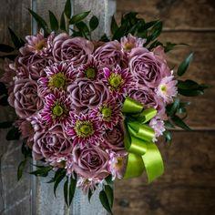serce kwiatowe róża goździk brudny róż
