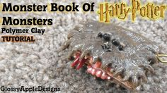 Miniature Polymer Clay Harry Potter's Monster Book of Monsters Charm Tut...