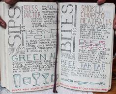 handwritten menu Menu Design, Layout Design, Shabby Chic Cafe, Cherry Syrup, San Diego Food, Grilled Bread, House Made, Chalkboards, Junk Drawer