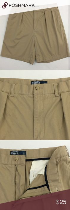 """Polo Ralph Lauren Shorts Men's 34 Waist Tan Cotton Brand: Polo Ralph Lauren  Detail: 100% Cotton Shorts  Condition: This item is in Good Pre-Owned Condition! There are NO Major Flaws with this item, and is free and clear of any Noticeable Stains, Rips, Tears or Pulls of fabric. Overall This Piece Looks Great and you will love it at a fraction of the price!  Material: 100% Cotton  Size: 34 Waist Measurements: Inseam: 8.5"""" Length: 19.5"""" 💥Top Rated Seller 💥Top 10% Seller 💥10% Discount on…"""