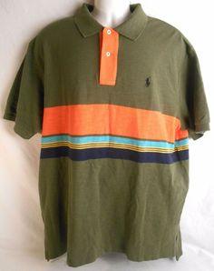POLO RALPH LAUREN Mens Shirt Size XL Short Sleeve Pony Green #PoloRalphLauren #Polo #mensshirt #shirt