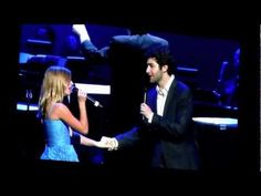Jackie Evancho and Josh Page, my new favorite singer. Watch him on America's Got Talent, he's so amazing! :)
