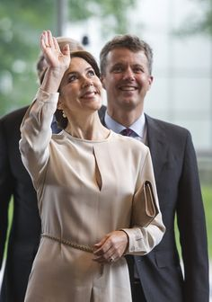 Crown Prince Frederik and Crown Princess Mary of Denmark in  Munich, Germany. May 21, 2015