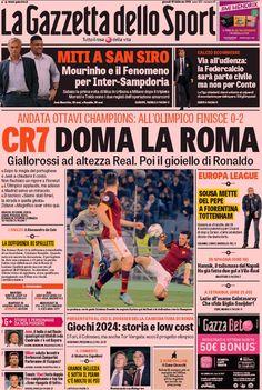 Rassegna stampa Italia: CR7 doma la Roma - http://www.maidirecalcio.com/2016/02/18/rassegna-stampa-italia-cr7-doma-la-roma.html