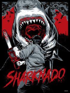 Alternative movie poster for Sharknado by Anthony Petrie