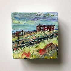 Red House at Broad Cove (sold) - Irene Duma - Fine Art Salt Box, Box Houses, Winding Road, Mini Paintings, Irene, Interior Styling, Cabins, Wrapped Canvas, Places To Visit