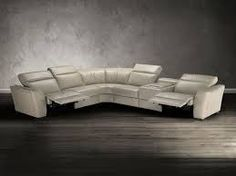 natuzzi sectional - charcoal gray or black leather