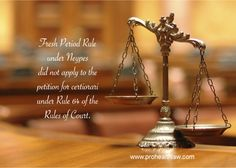 Fresh Period Rule under Neypes did not apply to the Petition for Certiorari under Rule 64 of the Rules of Court | Prohealthlaw