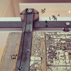 #DIY Do-it-yourself TRACK DOOR tutorial on how to create your own track doors. Learn how here : lynneknowlton.com