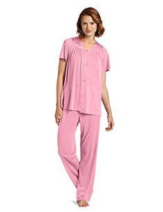 Vanity Fair Women s Plus Size Coloratura Sleepwear Short Sleeve Pajama Set  90807 24666fcd3