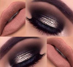 Makeup Ideas for New Years Eve- Smokey Nudes -This Article Covers The Best Nail Design And Make Up Ideas For New Years Eve. We Have Sparkle, Smoky Eye, and Silver Eyeshadows That Will Have You Looking Fun And Beautiful This Christmas And NYE. Black Gold Is Trending And Matching Your Nailart To Your Makeup To Get A Simple But Elegant Beauty Is In Right Now. Glitter Is Always A Great Choice For Makeup To Bring Out The Beauty Of Blue And Brown Eyes. Make Sure Your Makeup Ideas Compliment Your…