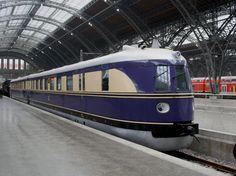 Fliegender Hamburger. Historic high-speed train from Berlin to Hamburg, Germany in the 1920s.